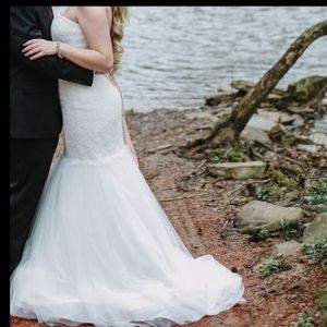 David's Bridal Wedding Gown Size 10
